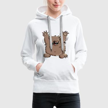 Happy bear would be glad to see you - Women's Premium Hoodie