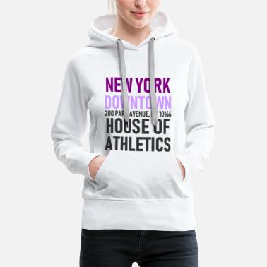 Urban New York - Downtown House of Athletics Streetwear - Women's Premium Hoodie