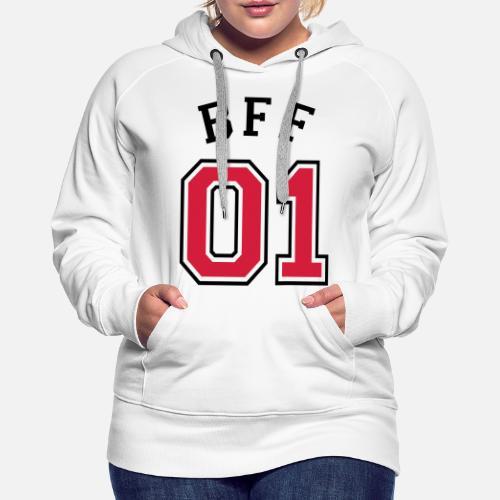 BFF 01 - mejor amigo 01 - mejor amigo - amigos Sudadera con capucha ... c22e333c6cb1