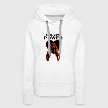 Real Love Power Heart - Women's Premium Hoodie