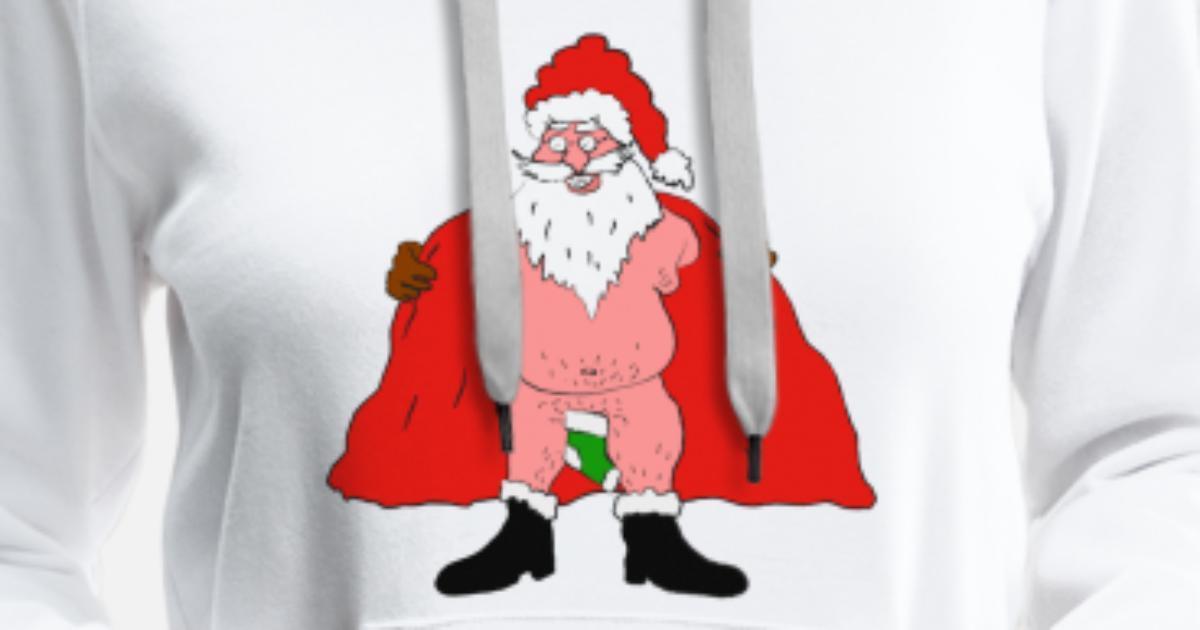 Weihnachtsfeier Lustig.Weihnachtsmann Nackt Witzig Weihnachtsfeier Lustig Frauen Premium Hoodie Spreadshirt