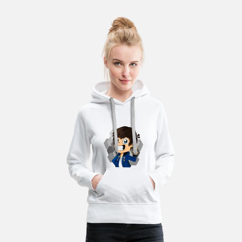 Skin Sweat-shirts - Drawn main de la peau TheZame Minecraft - Sweat à capuche premium Femme blanc