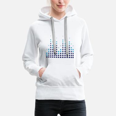 Equalizer Music Equalizer - Sweat-shirt à capuche Premium pour femmes