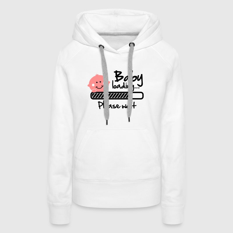 Baby loading - please wait - Sweat-shirt à capuche Premium pour femmes