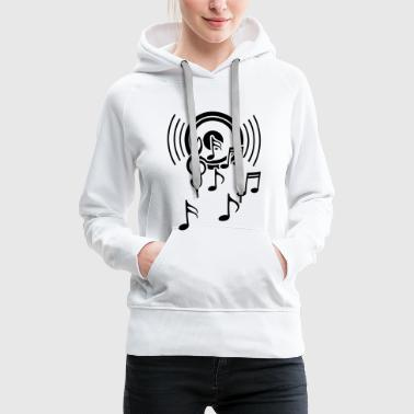 happy music  sound waves - Women's Premium Hoodie