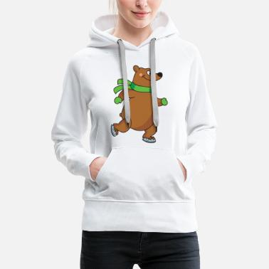 Speedway Bear figure skating Ice skating Skating - Women's Premium Hoodie