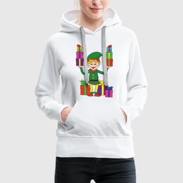 Xmas Christmas theme Christmas elf Christmas elves - Women's Premium Hoodie