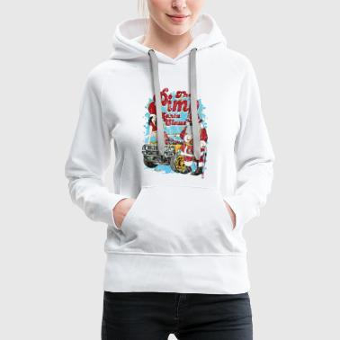 THE PIMP SANTA- Partie Weihnachtsmann Pin-Up Shirt - Frauen Premium Hoodie