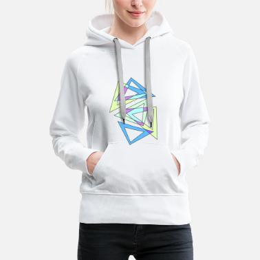 triangles abstraits - Sweat-shirt à capuche Premium pour femmes