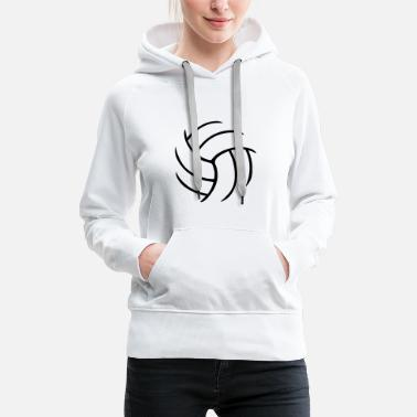 Volleyball Volleyball - Sweat-shirt à capuche Premium pour femmes