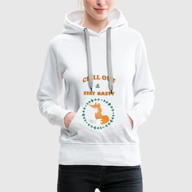 Chill out - Sweat-shirt à capuche Premium pour femmes