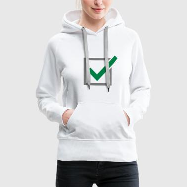 Haekchen, Windows - Frauen Premium Hoodie