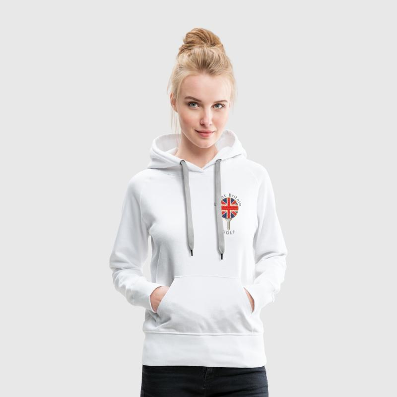 great britain union jack golf logo - Women's Premium Hoodie