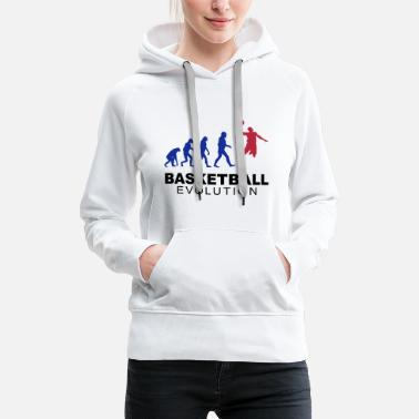 Basketball evolution - Frauen Premium Hoodie