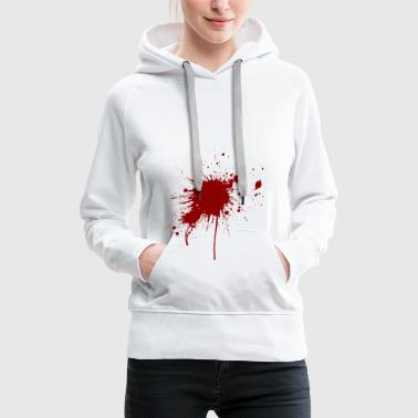 Blood spatter from a bullet wound - Women's Premium Hoodie