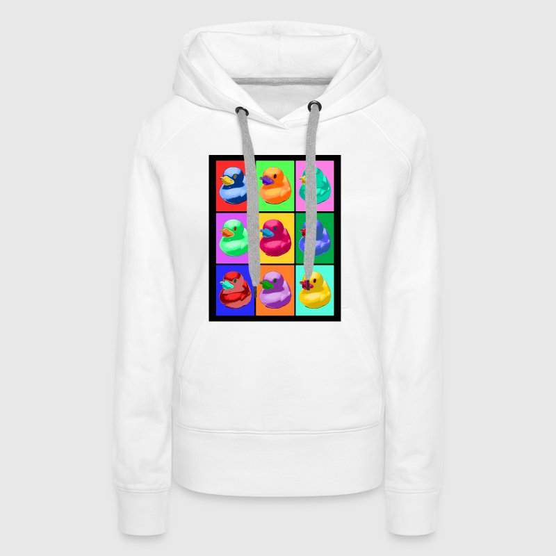 Pop Art Ente; Pop Art Duck - Frauen Premium Hoodie