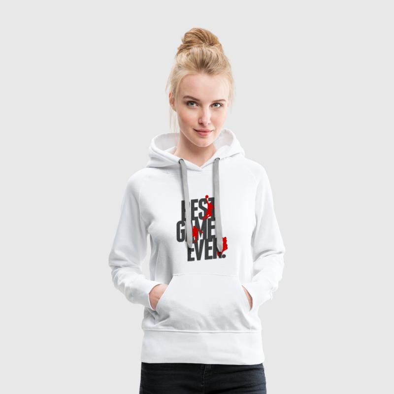 Basketball - best game ever - Sudadera con capucha premium para mujer