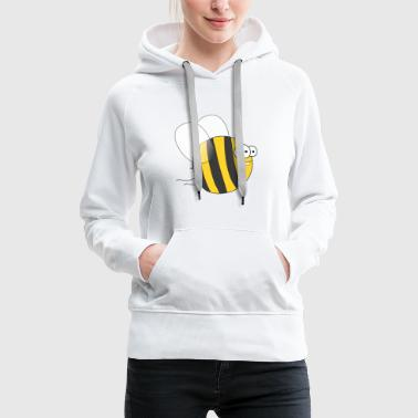 Cool & Crazy Funny Bee / Bumble Bee (Sweet & Cute) - Women's Premium Hoodie