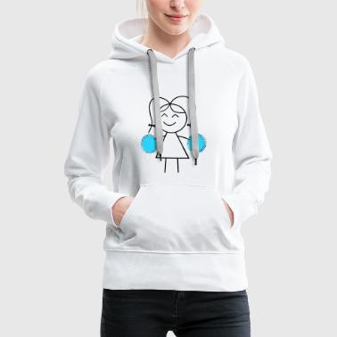 cheerleader - Sweat-shirt à capuche Premium pour femmes