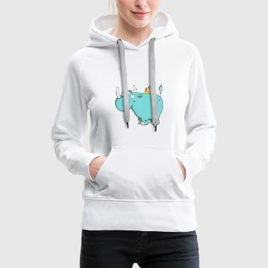 Wild rhinoceros - Animal Cartoon - Women's Premium Hoodie