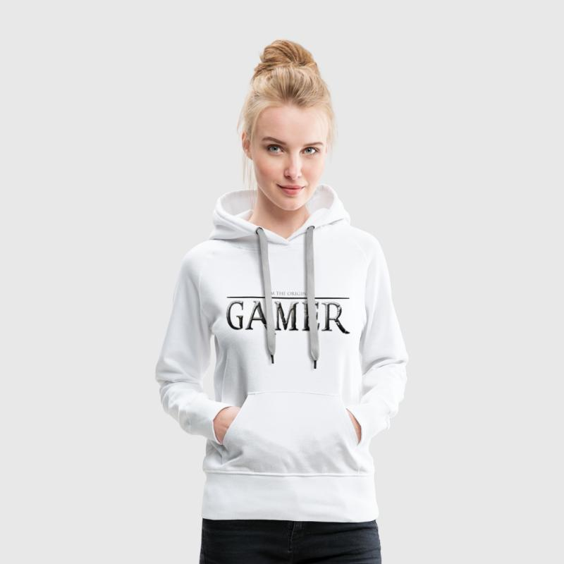 I am the original gamer - Sweat-shirt à capuche Premium pour femmes