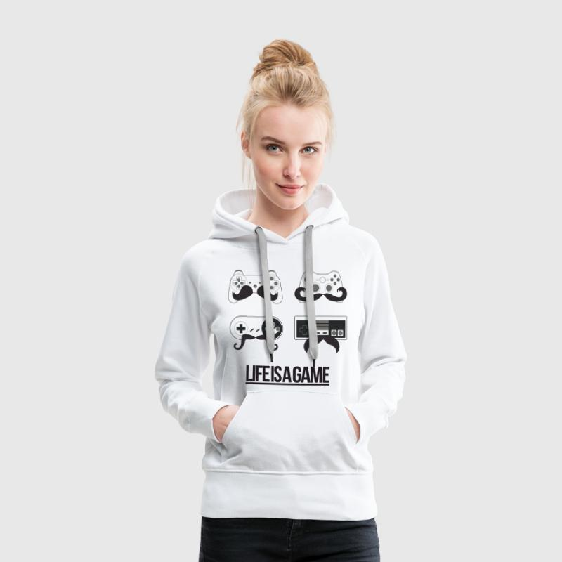 Life is a Game - Sweat-shirt à capuche Premium pour femmes