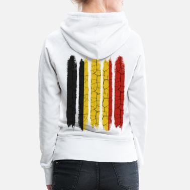 Belgium Trendy Belgium national colors | Modern gift - Women's Premium Hoodie