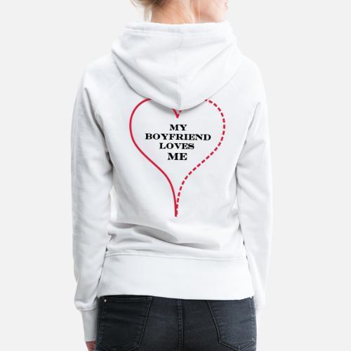 ... Loves Me - Sudadera con capucha premium mujer blanco. ¿Quieres  personalizar el diseño  7a97d428fcb4