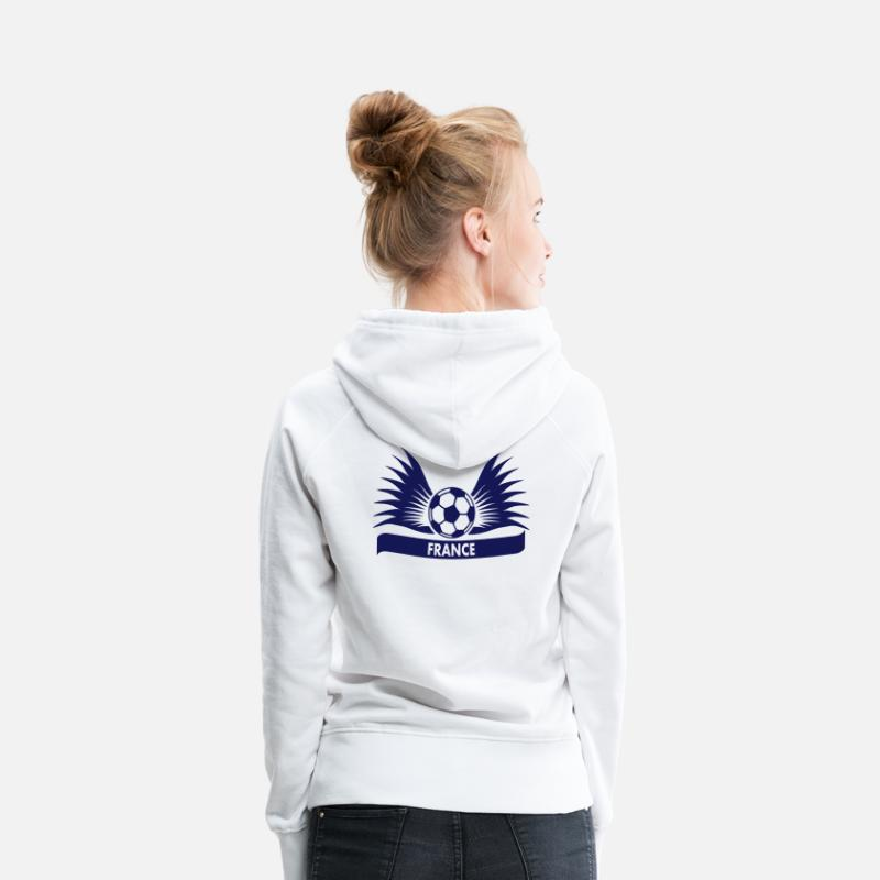 France Hoodies & Sweatshirts - france / Équipe de France football - Women's Premium Hoodie white