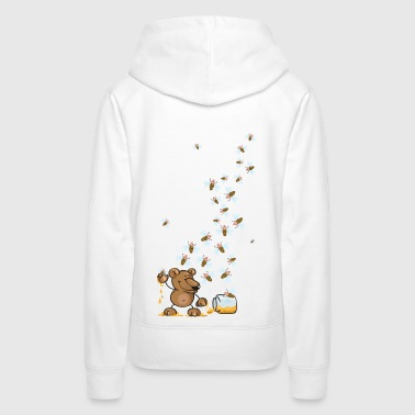 The bear, the honey and many bees - Women's Premium Hoodie