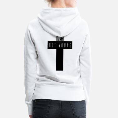 Swag Style _we_are_a_mess_HIPSTER+MOUSTACHE+GEEK+SWAG STYLE - Frauen Premium Hoodie