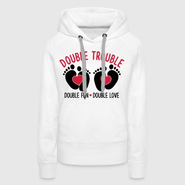 Double trouble - double fun - double love - Sweat-shirt à capuche Premium pour femmes