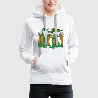 Crocodiles at the bar - Women's Premium Hoodie