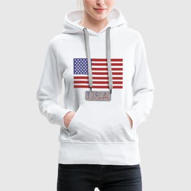 flag of the united states - Women's Premium Hoodie