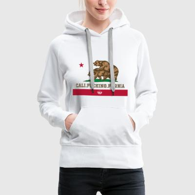 Californie, Californie, Fuck, Ours - Sweat-shirt à capuche Premium pour femmes