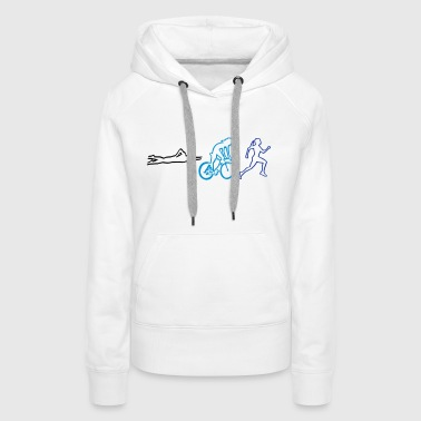 triathlon - woman - Women's Premium Hoodie