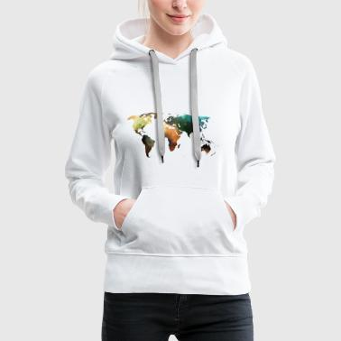 Shop world map hoodies sweatshirts online spreadshirt map of the world womens premium hoodie gumiabroncs Images