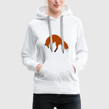Red Fox Pouncing - Bluza damska Premium z kapturem