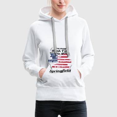 THERAPY HOLIDAY AMERICA USA TRAVEL Springfield - Women's Premium Hoodie
