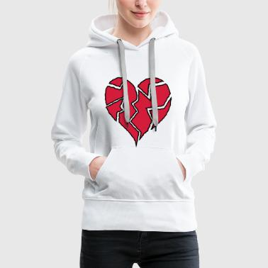 Flickering Broken Heart <3 - Women's Premium Hoodie