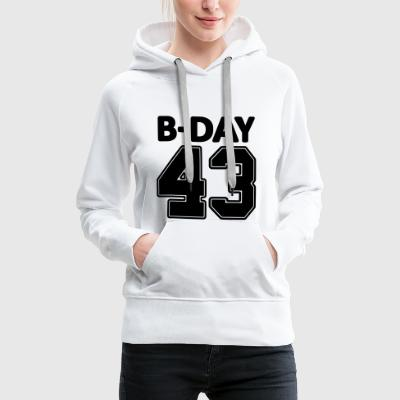 Number 43 / 43rd birthday bday number number - Women's Premium Hoodie