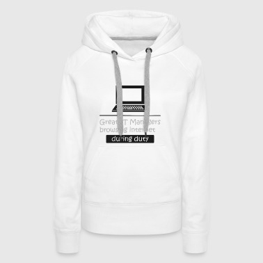 Responsable informatique IT intello informatique cadeau - Sweat-shirt à capuche Premium pour femmes