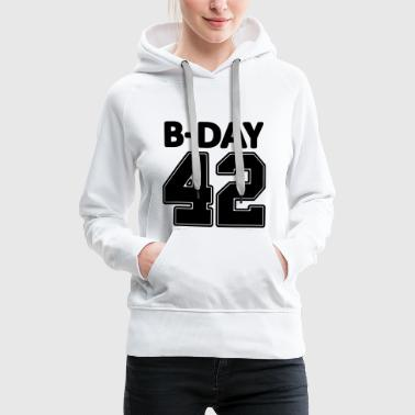 Number 42 / 42nd birthday number jersey number - Women's Premium Hoodie