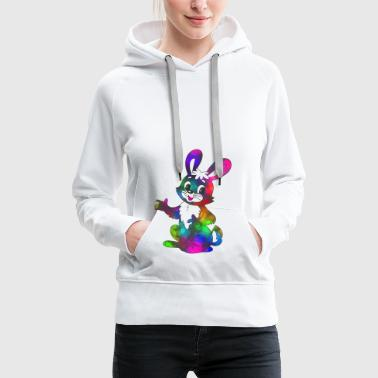 Colorful Easter Bunny super sweet - Women's Premium Hoodie