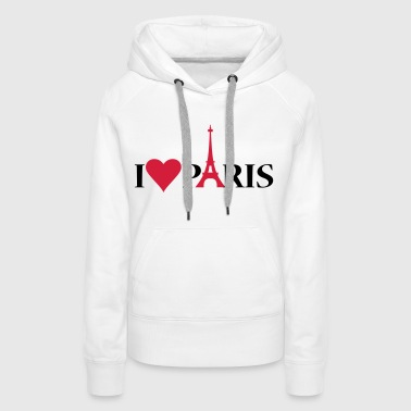 I Love / Heart Paris - Bluza damska Premium z kapturem