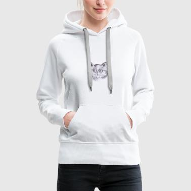 Cat With big eyes - Women's Premium Hoodie