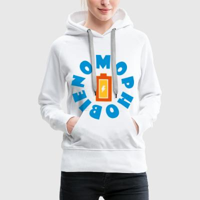 NOMOPHOBIA NOMOPHOBIA FEAR OF NO MOBILE BATTERY - Women's Premium Hoodie