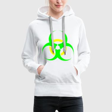 Green Yellow Biohazard - Women's Premium Hoodie
