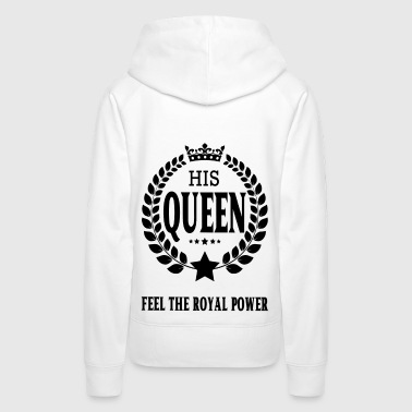 ROYAL HIS QUEEN transparence logo - Frauen Premium Hoodie