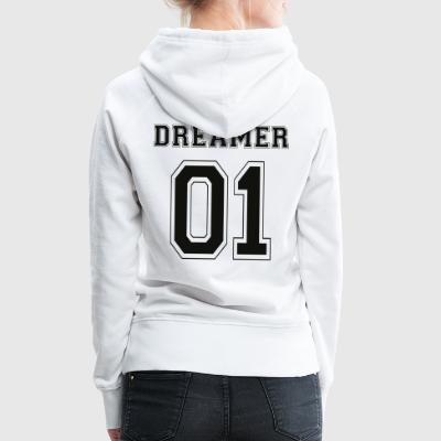 Dreamer 01 - Black Edition - Sweat-shirt à capuche Premium pour femmes